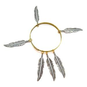 THUNDERBIRD LADYHAWKE LARGE  FEATHER BANGLE - NEW